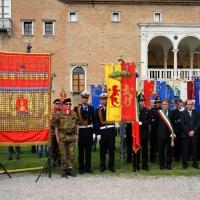 Foto Nicoloro G. 27/05/2012 Ravenna Si e' svolto nella città romagnola il 31° Raduno Nazionale dei Fanti d' Italia con la partecipazione del ministro della Difesa l' ammiraglio Gianpaolo Di Paola. nella foto Medagliere del Corpo