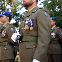 Foto Nicoloro G. 27/05/2012 Ravenna Si e' svolto nella città romagnola il 31° Raduno Nazionale dei Fanti d' Italia con la partecipazione del ministro della Difesa l' ammiraglio Gianpaolo Di Paola. nella foto Schieramento d' onore