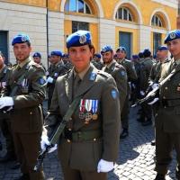 Foto Nicoloro G. 27/05/2012 Ravenna Si e' svolto nella città romagnola il 31° Raduno Nazionale dei Fanti d' Italia con la partecipazione del ministro della Difesa l' ammiraglio Gianpaolo Di Paola. nella foto Alina Armenio
