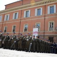 Foto Nicoloro G. 27/05/2012 Ravenna Si e' svolto nella città romagnola il 31° Raduno Nazionale dei Fanti d' Italia con la partecipazione del ministro della Difesa l' ammiraglio Gianpaolo Di Paola. nella foto Lo schieramento d' onore