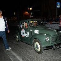 Foto Nicoloro G.  14/05/2015  Rimini     Arriva a Rimini la prima tappa della 33° edizione della 1000 Miglia. La storica competizione partita da Brescia si snoda su un percorso di 1760 chilometri con la partecipazione di 438 vetture e 42 Nazioni. nella foto anche l' Esercito alla 1000 Miglia con una Fiat 500 C Topolino del 1951.