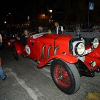 Foto Nicoloro G.  14/05/2015  Rimini     Arriva a Rimini la prima tappa della 33° edizione della 1000 Miglia. La storica competizione partita da Brescia si snoda su un percorso di 1760 chilometri con la partecipazione di 438 vetture e 42 Nazioni. nella foto l' arrivo a Rimini di Mercedes - Benz 710 SS del 1930.
