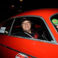 Foto Nicoloro G.  14/05/2015  Rimini     Arriva a Rimini la prima tappa della 33° edizione della 1000 Miglia. La storica competizione partita da Brescia si snoda su un percorso di 1760 chilometri con la partecipazione di 438 vetture e 42 Nazioni. nella foto l' arrivo a Rimini di Andrea Zagato su Alfa Romeo 1900 C Super Sprint Zagato del 1956.