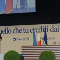 """Foto Nicoloro G. 24/08/2017 Rimini Quinta giornata della 38° edizione del Meeting di Rimini che quest' anno ha come tema ' Quello che tu erediti dai tuoi padri, riguadagnatelo, per possederlo"""". nella foto il ministro Angelino Alfano con il segretario generale della NATO Jens Stoltenberg."""