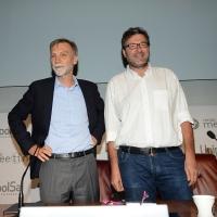 Foto Nicoloro G. 20/08/2018 Rimini Seconda giornata dell' edizione 2018 del Meeting di C.L. che quest' anno ha per tema ' Le forze che muovono la storia sono le stesse che rendono l' uomo felice '. nella foto da sinistra Graziano Delrio e Giancarlo Giorgetti.