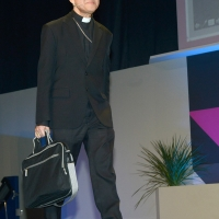 Foto Nicoloro G.   20/08/2018   Rimini   Seconda giornata dell' edizione 2018 del Meeting di C.L. che quest' anno ha per tema ' Le forze che muovono la storia sono le stesse che rendono l' uomo felice '. nella foto Luis Antonio Gokim Tagle, presidente di Caritas Internationalis.