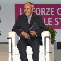 Foto Nicoloro G.   20/08/2018  Rimini   Seconda giornata dell' edizione 2018 del Meeting di C.L. che quest' anno ha per tema ' Le forze che muovono la storia sono le stesse che rendono l' uomo felice '. nella foto Julian Carron, presidente di Comunione e Liberazione.
