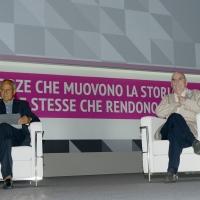 Foto Nicoloro G.   20/08/2018  Rimini   Seconda giornata dell' edizione 2018 del Meeting di C.L. che quest' anno ha per tema ' Le forze che muovono la storia sono le stesse che rendono l' uomo felice '. nella foto a sinistra Julian Carron, presidente di Comunione e Liberazione, e il filosofo Salvatore Natoli.