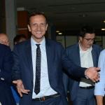 Foto Nicoloro G.   23/08/2019  Rimini    Sesta giornata della 40° edizione del ' Meeting per l' amicizia fra i popoli ' che quest' anno ha per titolo ' Nacque il tuo nome da cio' che fissavi '. nella foto Massimiliano Fedriga, governatore Friuli Venezia Giulia.