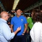 Foto Nicoloro G.   19/08/2019  Rimini   Seconda giornata della 40° edizione del ' Meeting per l' amicizia fra i popoli ' che quest' anno ha per titolo ' Nacque il tuo nome da cio' che fissavi '. nella foto Javier Zanetti, vicepresidente Inter Calcio e membro FIFA, in visita ad uno stand.