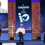 Foto Nicoloro G.   20/08/2021   Rimini    Prima giornata della 42° edizione del Meeting di Comunione e Liberazione che quest' anno ha per titolo ' Il coraggio di dire io '. nella foto in diretta video l' intervento del ministro Vittorio Colao.