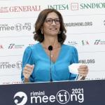 Foto Nicoloro G.   23/08/2021   Rimini   Quarta giornata della 42° edizione del Meeting di Comunione e Liberazione che quest' anno ha per titolo ' Il coraggio di dire io '. nella foto il ministro Mariastella Gelmini.