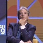 Foto Nicoloro G.   23/08/2021   Rimini   Quarta giornata della 42° edizione del Meeting di Comunione e Liberazione che quest' anno ha per titolo ' Il coraggio di dire io '. nella foto il Commissario Europeo Paolo Gentiloni.
