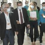 Foto Nicoloro G.   24/08/2021   Rimini   Quinta giornata della 42° edizione del Meeting di Comunione e Liberazione che quest' anno ha per titolo ' Il coraggio di dire io '. nella foto il segretario della Lega Matteo Salvini al suo arrivo al Meeting.