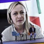 Foto Nicoloro G.   24/08/2021   Rimini   Quinta giornata della 42° edizione del Meeting di Comunione e Liberazione che quest' anno ha per titolo ' Il coraggio di dire io '. nella foto la presidente di Fratelli d' Italia Giorgia Meloni in collegamento video.