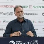 Foto Nicoloro G.   21/08/2021   Rimini    Seconda giornata della 42° edizione del Meeting di Comunione e Liberazione che quest' anno ha per titolo ' Il coraggio di dire io '. nella foto Massimo Garavaglia ministro del Turismo.