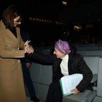 Foto Nicoloro G. 17/11/2017 Milano 9° edizione di 'Science for Peace ', Conferenza mondiale dal titolo ' Post-Verita''. nella foto il saluto tra la presidente della Camera Laura Boldrini e Emma Bonino.