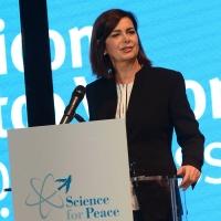 Foto Nicoloro G. 17/11/2017 Milano 9° edizione di 'Science for Peace ', Conferenza mondiale dal titolo ' Post-Verita''. nella foto la presidente della Camera Laura Boldrini.