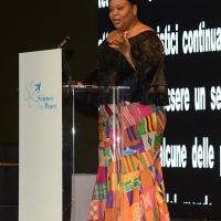 Foto Nicoloro G. 17/11/2017 Milano 9° edizione di 'Science for Peace ', Conferenza mondiale dal titolo ' Post-Verita''. nella foto il premio Nobel per la Pace Leymah Gbowee.