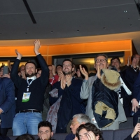 Foto Nicoloro G.   28-29/01/2017   Rimini   Assemblea nazionale amministratori locali. nella foto in piedi ad applaudire l' arrivo sul palco di Matteo Renzi.