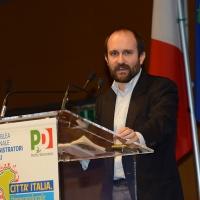 Foto Nicoloro G.   28-29/01/2017   Rimini  Seconda e conclusiva giornata dell' Assemblea nazionale amministratori locali. nella foto il presidente del PD Matteo Orfini.