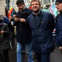 Foto Nicoloro G. 01/05/2016 Manifestazione con corteo per la ricorrenza del I° Maggio. nella foto il segretario nzionale PD Emanuele Fiano, a sinistra, e l' assessore Pierfrancesco Majorino.