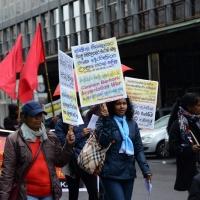 Foto Nicoloro G. 01/05/2016 Manifestazione con corteo per la ricorrenza del I° Maggio. nella foto numerosa la presenza di manifestanti stranieri.