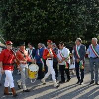 Foto Nicoloro G. 04/08/2017 Mandriole ( Ravenna ) Commemorazione della morte di Anita Garibaldi avvenuta il 04/08/1849 nella Fattoria Guiccioli in localita' Mandriole. nella foto sfilata di garibaldini in costume.