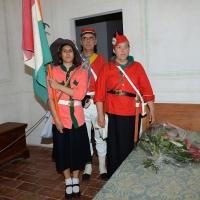 Foto Nicoloro G. 04/08/2017 Mandriole ( Ravenna ) Commemorazione della morte di Anita Garibaldi avvenuta il 04/08/1849 nella Fattoria Guiccioli in localita' Mandriole. nella foto garibaldini in costume nella stanza dove mori' Anita.