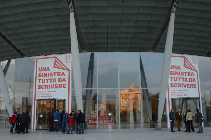 Foto Nicoloro G. 17/02/2017 Rimini Si e' aperto il Congresso fondativo di Sinistra Italiana. nella foto