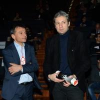 Foto Nicoloro G. 17/02/2017 Rimini Si e' aperto il Congresso fondativo di Sinistra Italiana. nella foto Stefano Fassina, a sinistra, e il sindaco di Rimini Andrea Gnassi.