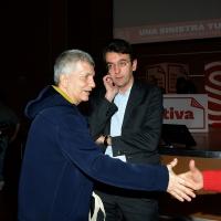 Nichi Vendola e dietro il fuoriuscito PD Alfredo D' Attorre.