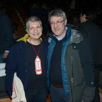 Foto Nicoloro G. 17/02/2017 Rimini Si e' aperto il Congresso fondativo di Sinistra Italiana. nella foto Nichi Vendola, a sinistra, e Maurizio Landini.