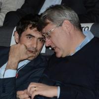 Foto Nicoloro G. 17/02/2017 Rimini Si e' aperto il Congresso fondativo di Sinistra Italiana. nella foto da sinistra Nicola Fratoianni, candidato alla segreteria di S.I., e il segretario Fiom Maurizio Landini.