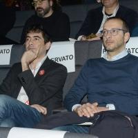 Foto Nicoloro G. 18/02/2017 Rimini Seconda giornata del Congresso fondativo di Sinistra Italiana. nella foto Nicola Fratoianni, a sinistra, e Matteo Ricci.