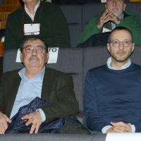Foto Nicoloro G. 18/02/2017 Rimini Seconda giornata del Congresso fondativo di Sinistra Italiana. nella foto Fabio Mussi, a sinistra, e Matteo Ricci.