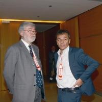 Foto Nicoloro G. 18/02/2017 Rimini Seconda giornata del Congresso fondativo di Sinistra Italiana. nella foto Sergio Cofferati, a sinistra, e Stefano Fassina.