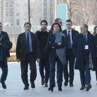 Foto Nicoloro G. 18/02/2017 Rimini Seconda giornata del Congresso fondativo di Sinistra Italiana. nella foto la presidente della Camera Laura Boldrini al suo arrivo al Palacongressi.