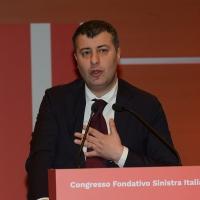 Foto Nicoloro G. 18/02/2017   Rimini   Seconda giornata del Congresso fondativo di Sinistra Italiana. nella foto Arturo Scotto.