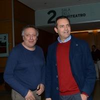 Foto Nicoloro G. 19/02/2017 Rimini Terza giornata conclusiva del Congresso fondativo di Sinistra Italiana. nella foto Paolo Cento, a sinistra, e Luigi De Magistris.
