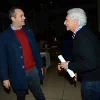 Foto Nicoloro G. 19/02/2017 Rimini Terza giornata conclusiva del Congresso fondativo di Sinistra Italiana. nella foto Luigi De Magistris, a sinistra, e Corradino Mineo.