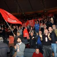 Foto Nicoloro G.  19/02/2017    Rimini   Terza giornata conclusiva del Congresso fondativo di Sinistra Italiana. nella foto sventolano alcune bandiere.