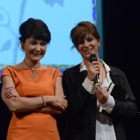 Foto Nicoloro G. 29/06/2016 Milano Quinta serata della diciassettesima edizione de ' La Milanesiana ' che quest' anno ha per titolo ' La Vanita' '. nella foto Elisabetta Sgarbi con l' attrice Laura Morante.