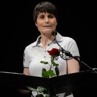 03/07/2017 Milano 18° edizione de ' La Milanesiana ' che quest' anno ha per tema ' Paura e Coraggio '. nella foto l' astronauta Samantha Cristoforetti.