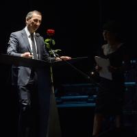 Foto Nicoloro G. Milano 26/06/2017 Con la presenza del ministro dei Beni Culturali si e' aperta ufficialmente la 18° edizione de ' La Milanesiana ' che quest' anno ha per tema ' Paura e Coraggio '. nella foto il sindaco di Milano Beppe Sala.