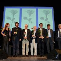 Foto Nicoloro G. Milano 26/06/2017 Con la presenza del ministro dei Beni Culturali si e' aperta ufficialmente la 18° edizione de ' La Milanesiana ' che quest' anno ha per tema ' Paura e Coraggio '. nella foto i gruppo i partecipanti alla serata.