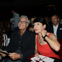 Foto Nicoloro G. 29-06-2017 Milano 18° edizione de ' La Milanesiana ' che quest' anno ha per tema ' Paura e Coraggio '. nella foto il cantante Claudio Baglioni e Elisabetta Sgarbi.