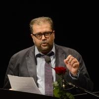 Foto Nicoloro G. 29-06-2017 Milano 18° edizione de ' La Milanesiana ' che quest' anno ha per tema ' Paura e Coraggio '. nella foto il giornalista Stefano Salis.