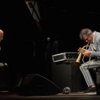 Foto Nicoloro G. 29-06-2017 Milano 18° edizione de ' La Milanesiana ' che quest' anno ha per tema ' Paura e Coraggio '. nella foto il trombettista Paolo Fresu e il pianista Roberto Cipelli.