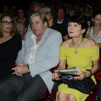 Foto Nicoloro G. 27/06/2017 Milano 18° edizione de ' La Milanesiana ' che quest' anno ha per tema ' Paura e Coraggio '. nella foto da sinistra gli scrittori Dana Spiotta e Patrick McGrath e Elisabetta Sgarbi.